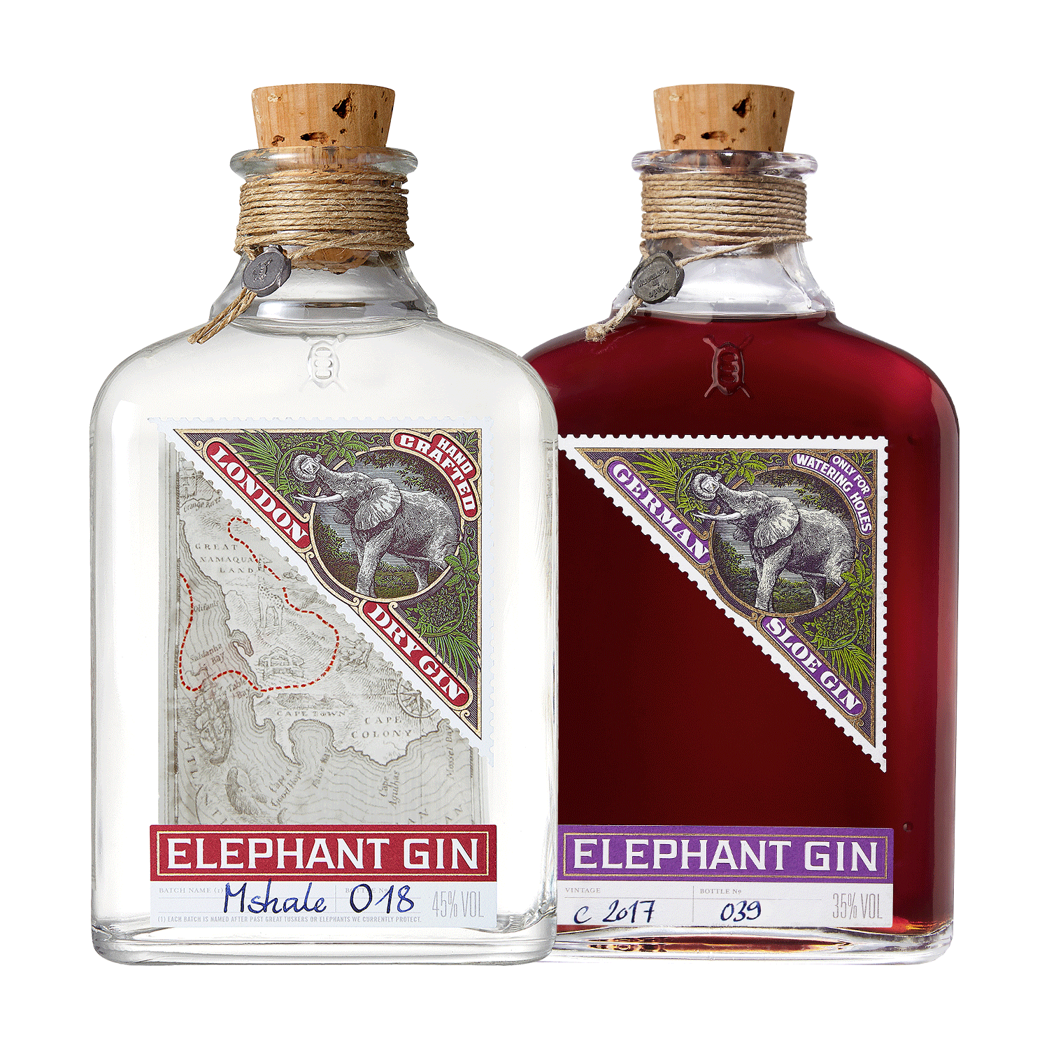 ELEPHANT LONDON DRY + ELEPHANT SLOE GIN